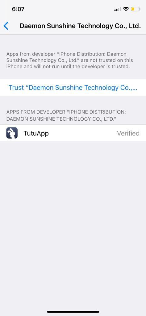 Profils de confiance de TuTuApp
