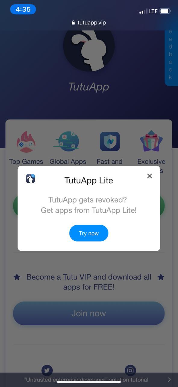 Télécharger-TutuApp-Lite-sur-ios